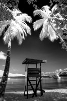 Infrared of Magens Bay lifeguard stand.  St Thomas